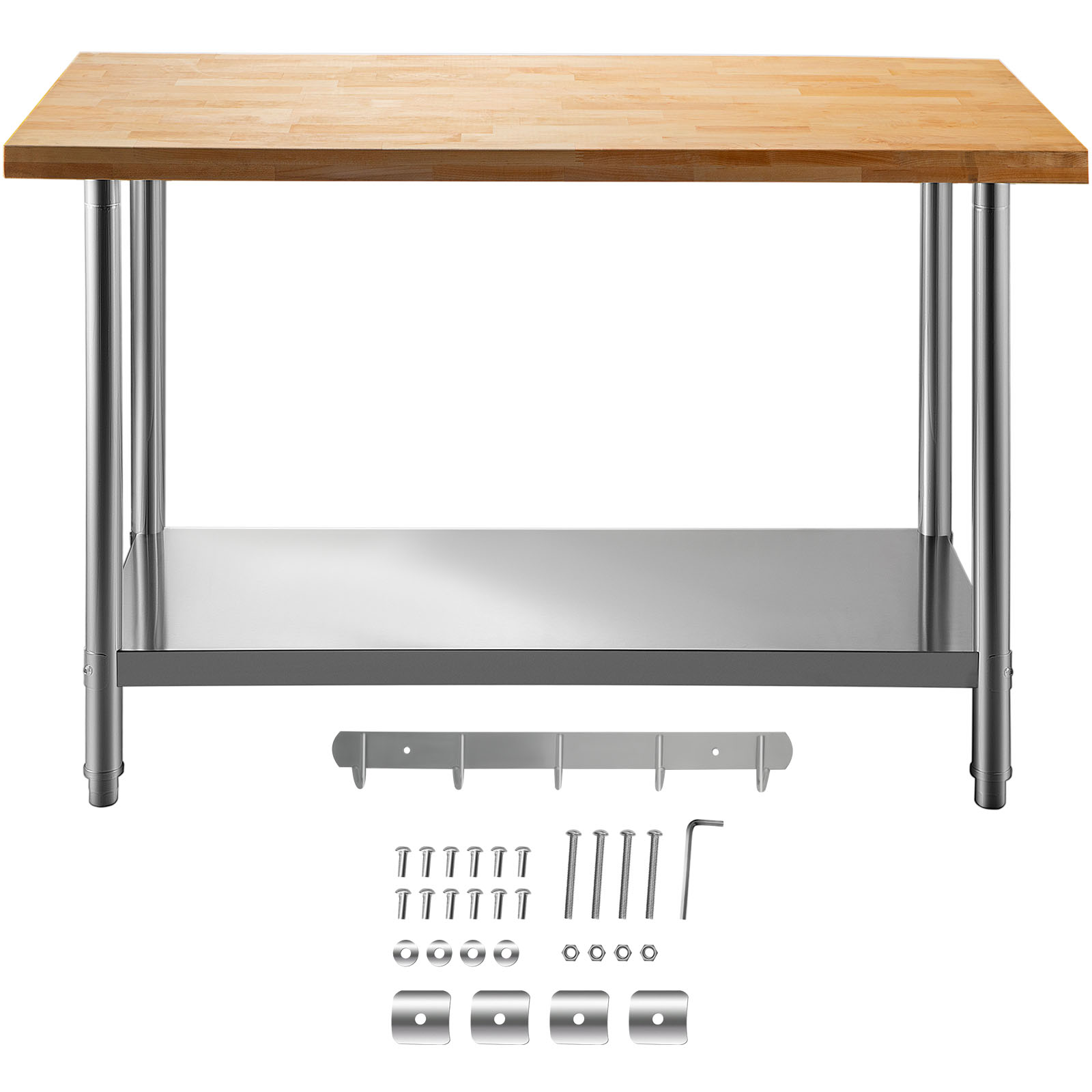 Details about  /VEVOR Commercial Stainless Steel Folding Work Prep Tables Open Kitchen 48x24 In