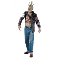 Punk Zombie Adult Halloween Costume - One Size
