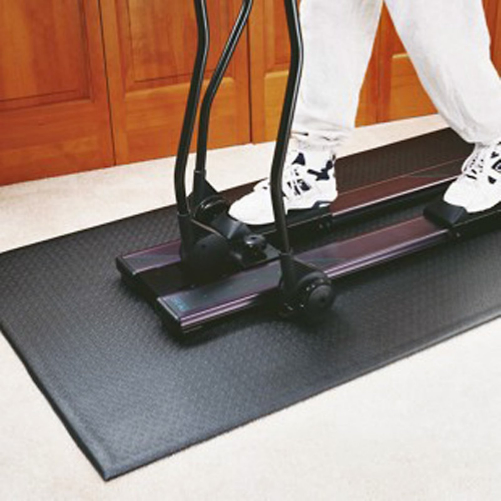 Heavy Duty P.V.C. Equipment Mat for Upright Indoor Cycles by Supermats
