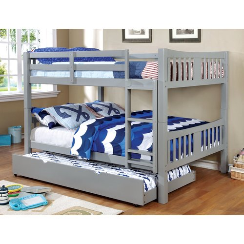 Harriet Bee Sandstone Full Over Full Bunk Bed with Drawers