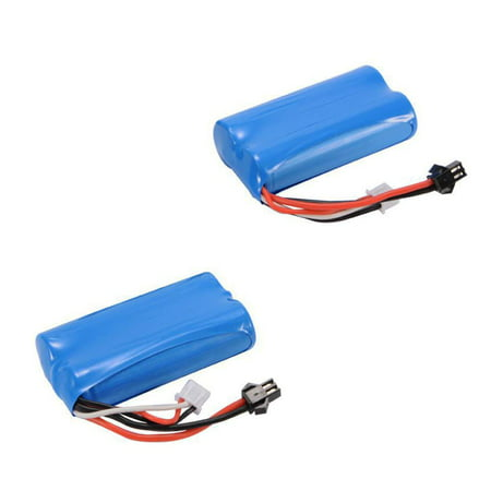 Contixo 7.4V 2S 1500mAh 15C Li-Ion Battery 5500-plug RC Racing Boat T2 (2 (15c Li Poly Pack)