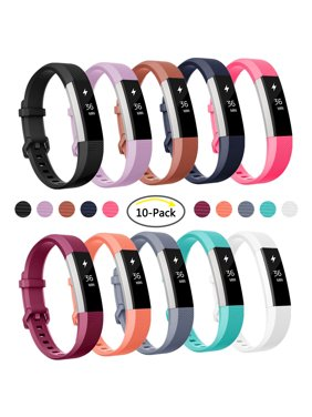 For Fitbit Alta and Alta HR Strap Bands Wristbands Pack of 10 Large