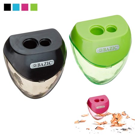 2 Set Pencil Sharpener Double Hole Cutter Colors School Supplies Office Art Kids](Handheld Pencil Sharpener)
