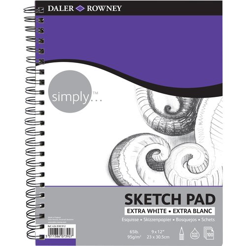 "Simply 9"" x 12"" Sketch Pad with 100 Sheets"