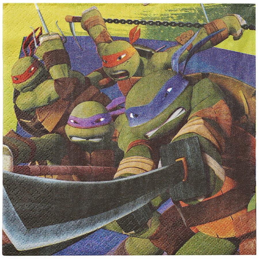 Teenage Mutant Ninja Turtles Party Paper Lunch Napkins, 16ct