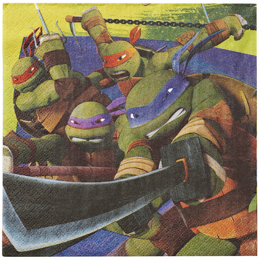 Teenage Mutant Ninja Turtles Lunch Napkins, 16 Count, Party Supplies