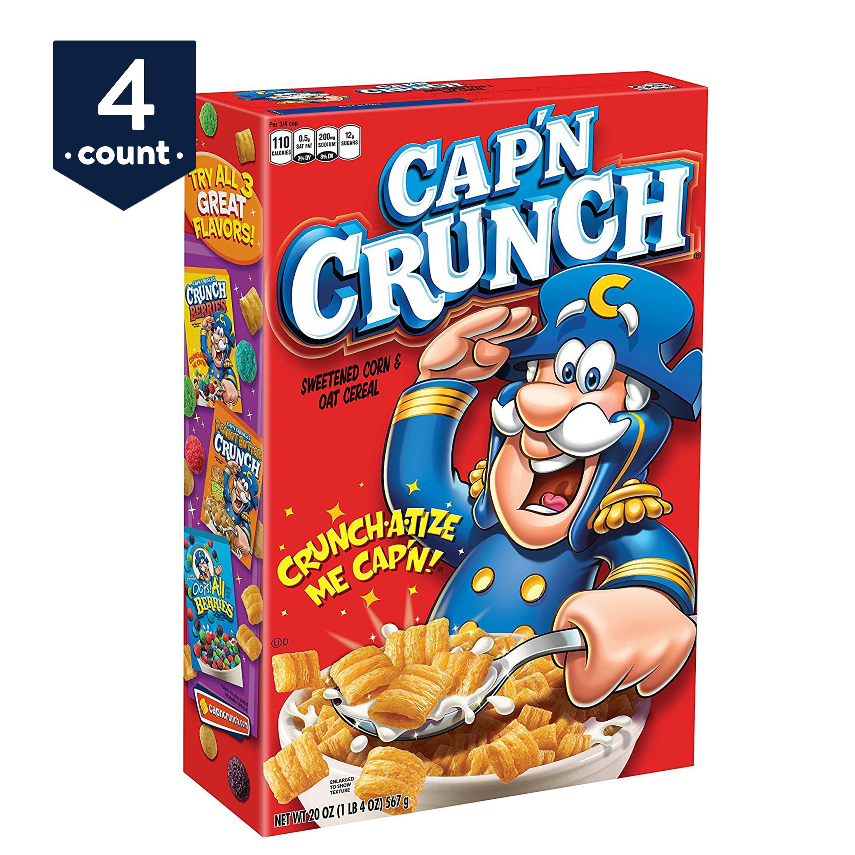 9a4fec24a7ca8 Cap'n Crunch Breakfast Cereal, Original, 20 Oz - Walmart.com
