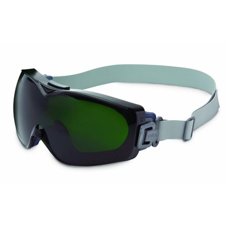 Uvex Shade (Uvex Stealth OTG Over The Glasses Goggles With Navy Frame, Shade 5.0 Dura-streme Anti-Fog Anti-Scratch Lens With Neoprene Headband )