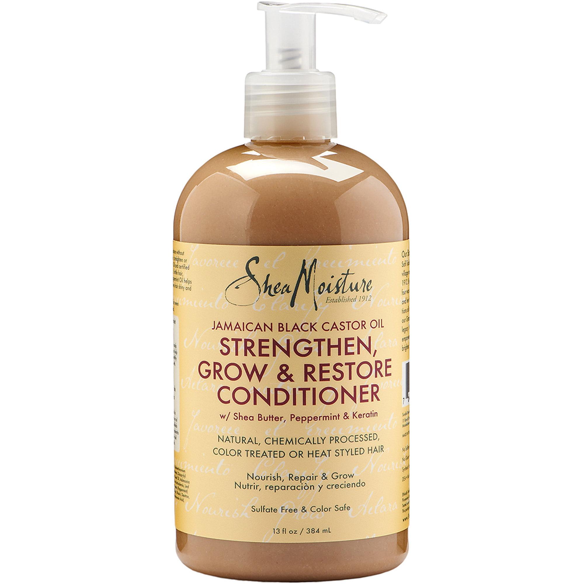 SheaMoisture Jamaican Black Castor Oil Strengthen, Grow & Restore Conditioner, 13 fl oz