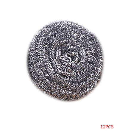 12 Pcs Stainless Steel Mesh Wire Scourer Large Size Ball Brushes Pan Pot Dish Cleaner Scrubber Kitchen