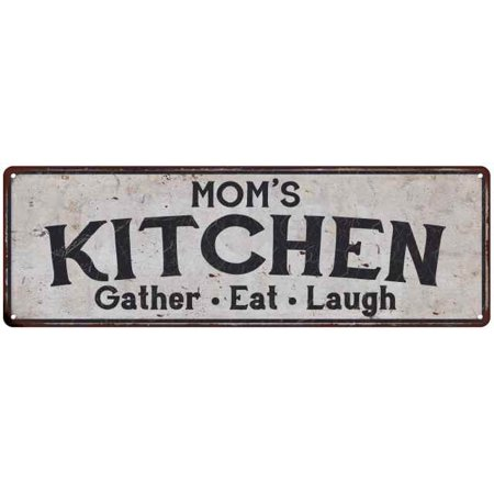 MOM's Kitchen Personalized Rustic Chic Decor Gift 6x18 Sign - Personalize Gift