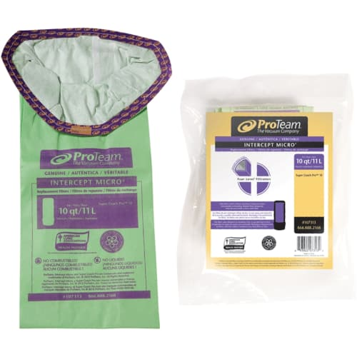 ProTeam 107313 Intercept Micro Filter Bag for ProTeam SCP 10 Vacuum Cleaners - Pack of 10