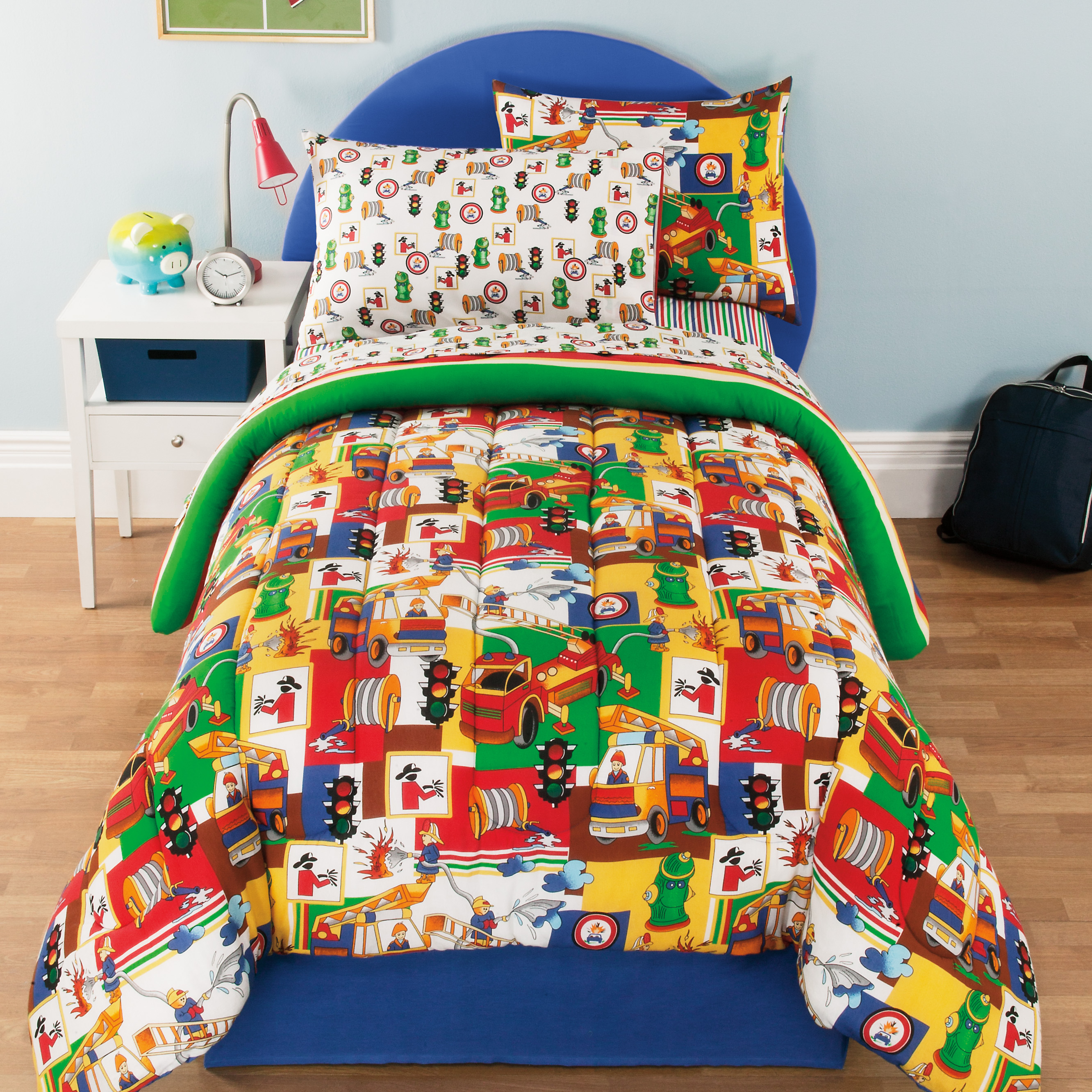 3 Alarm Reversible Complete Bedding Set by Imported