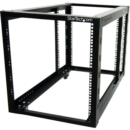 StarTech 12U 4-Post Server Equipment Open Frame Rack (Open Frame Server Cabinets)