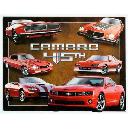 Chevy Chevrolet Camaro 45th Anniversary Tin Sign - 12.5x16 - Anniversary Signs