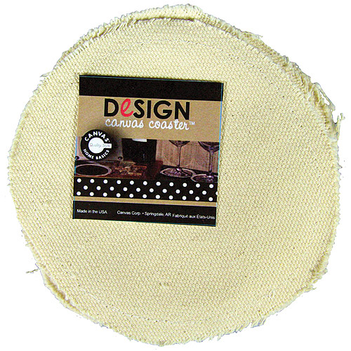 """Canvas Corp Fabric Round Coaster, 4"""", 4-Pack"""