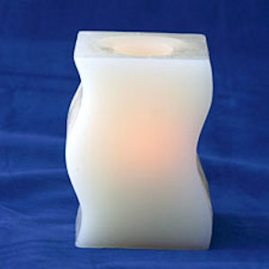 Candle Impressions CA10311-WH Vanilla Scented Bookends Battery Operated Candle by Candle Impressions