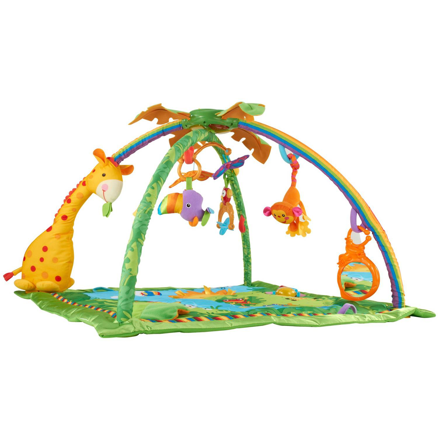 Fisher Price Rainforest Melo s Lights Deluxe Gym Activity Center