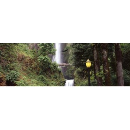 Waterfall in a forest  Multnomah Falls  Hood River  Columbia River Gorge  Multnomah County  Oregon  USA Poster Print by  - 36 x 12 - image 1 of 1