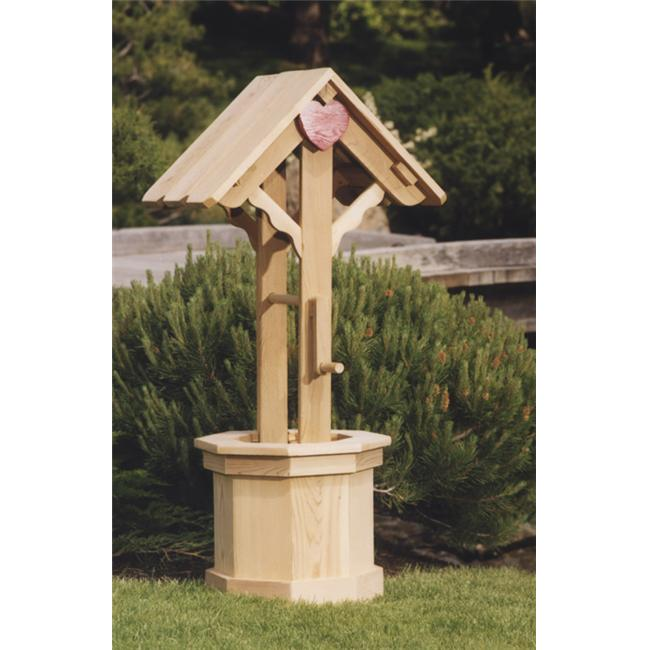 All Things Cedar WW60U Wishing Well Outdoor Planter - Large
