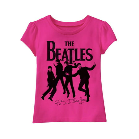 "Kids' Beatles T Shirt - Pink, Toddler Girl, ""P.S. I Love You"""
