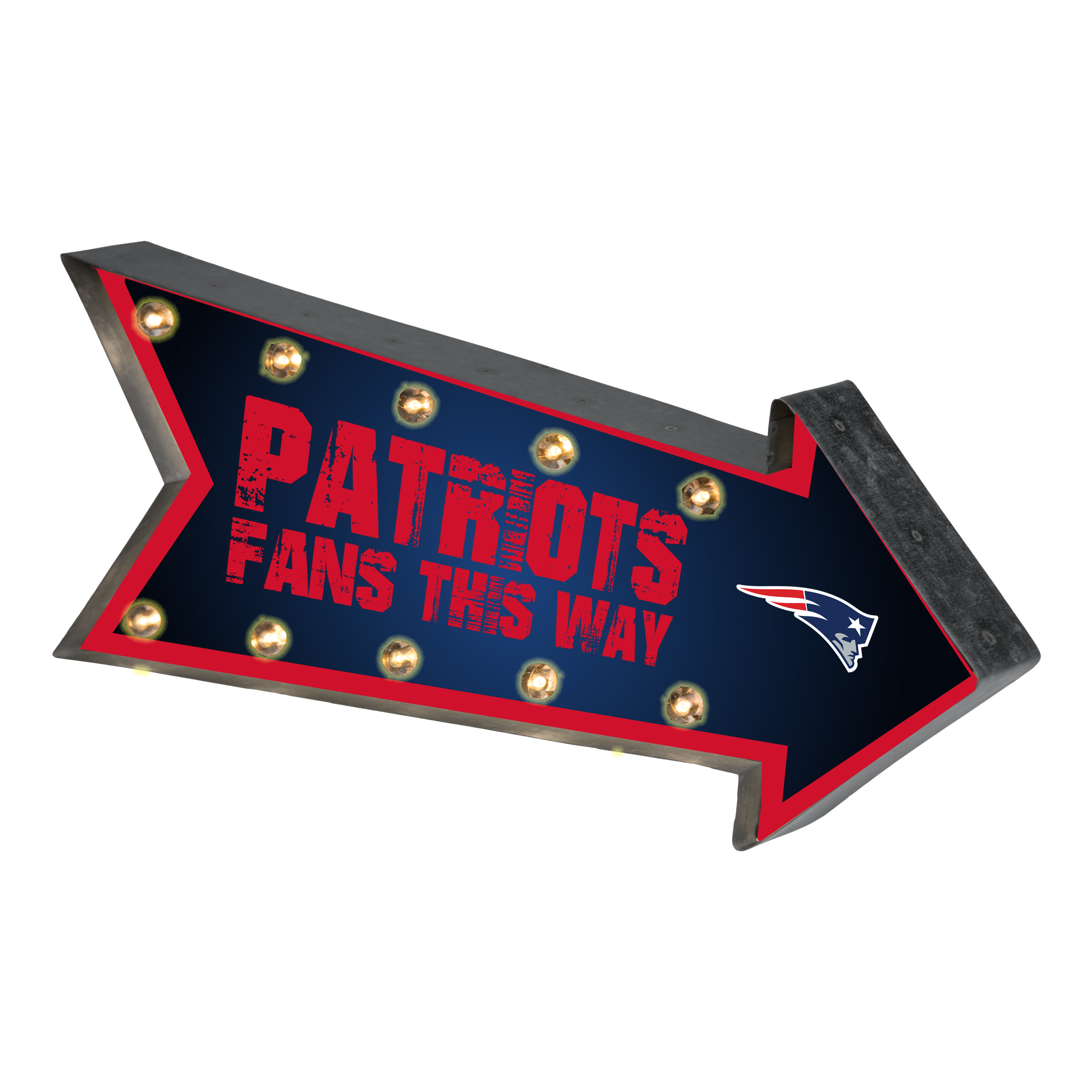 Forever Collectibles  Arrow Light Up Marquee Sign, New England Patriots