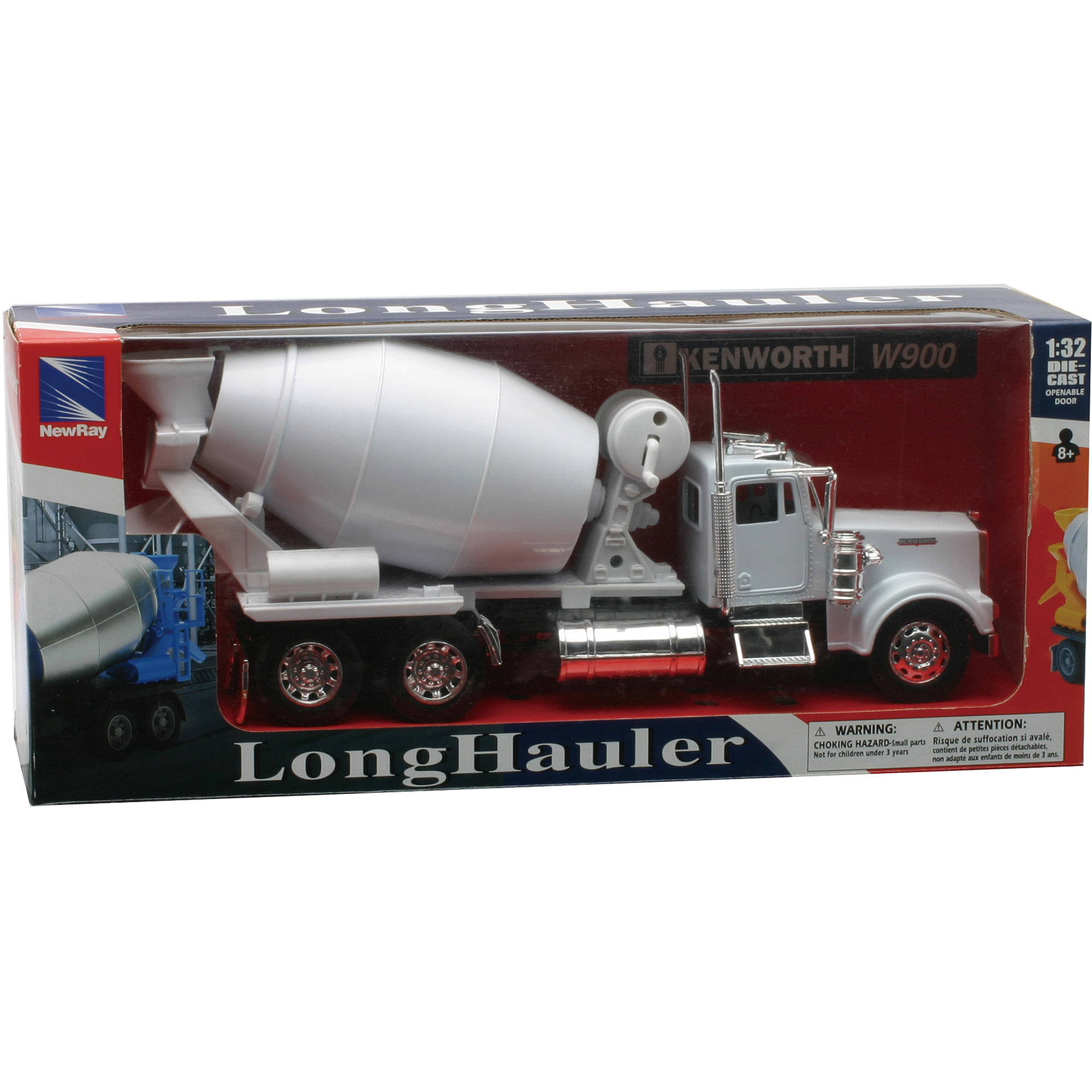 1:32 Scale Die-Cast Kenworth W900 Cement Truck by New-ray Toys