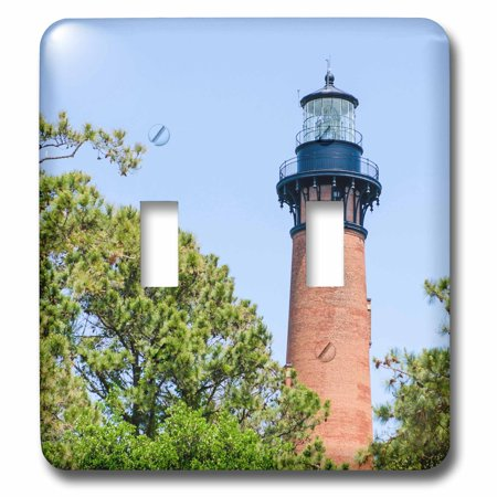 3dRose Currituck Beach Lighthouse, Corolla, Outer Banks, North Carolina, USA. - Double Toggle Switch