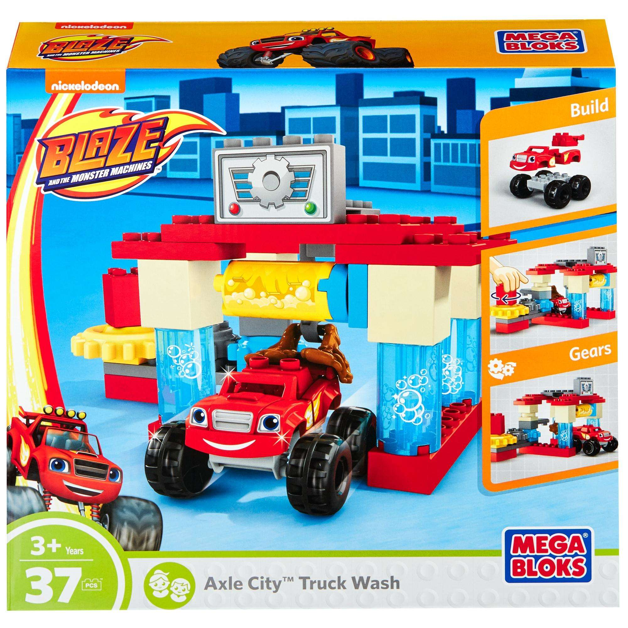 Mega Bloks Nickelodeon Blaze and the Monster Machines Axle City Truck Wash Building Set
