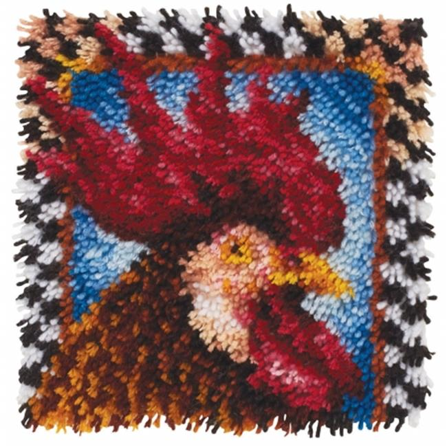 Wonderart Latch Hook Kit 12 in. x 12 in.-Rooster
