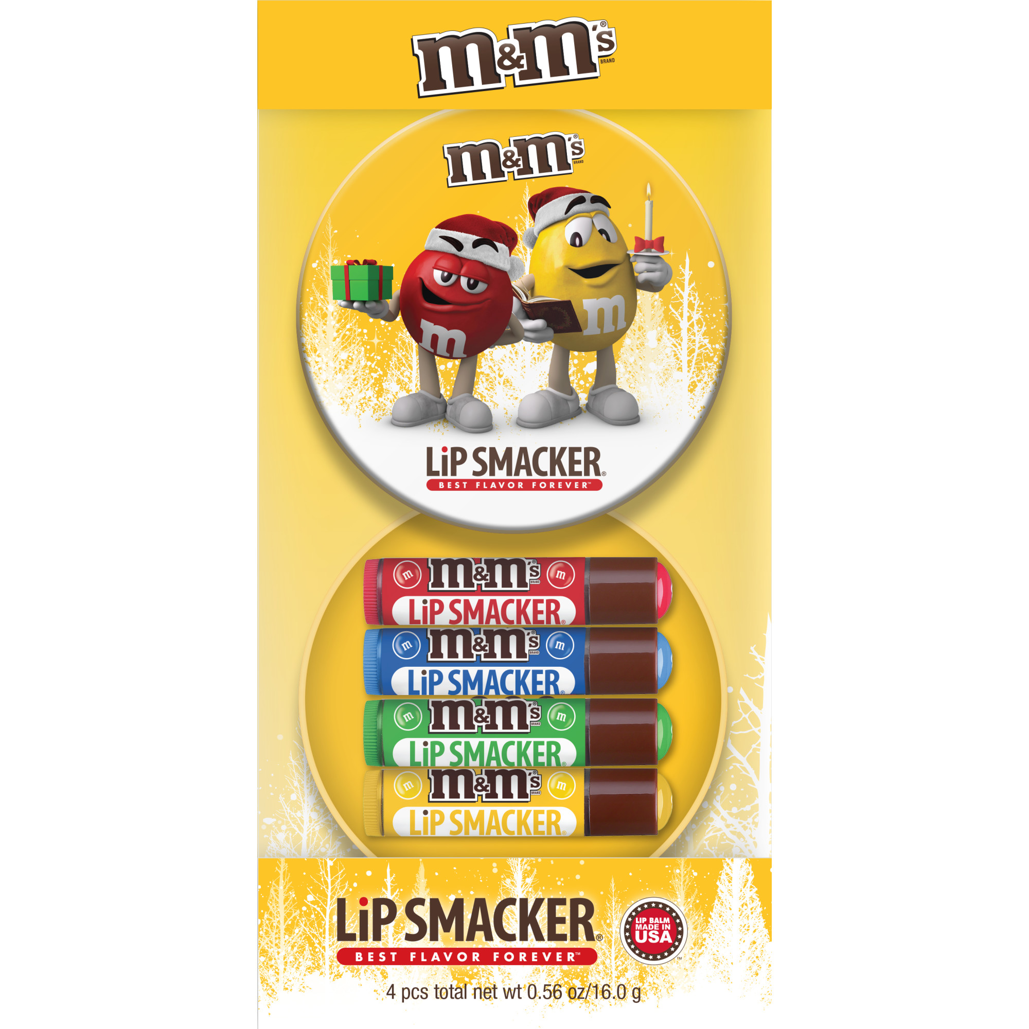 Lip Smacker M&M 4-Piece Lip Balm Tin