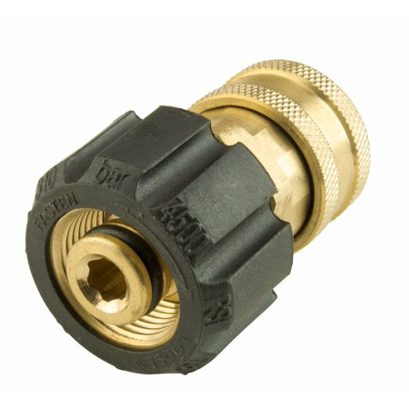 Brass Quick Disconnect Restraining Cable - Erie Tools Pressure Washer Twist Connect M22 X 3/8