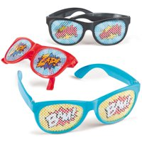 Superhero Pinhole Glasses (12 Pack) - Party Supplies