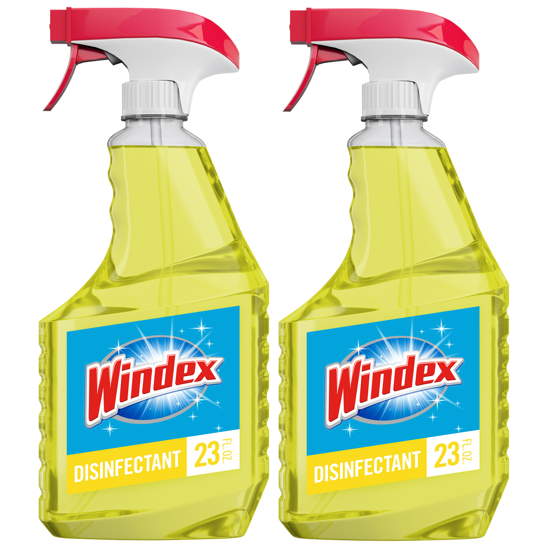 Windex Multi-Surface Disinfectant Cleaner Trigger Bottle, Citrus, 23 fl oz (2 ct)