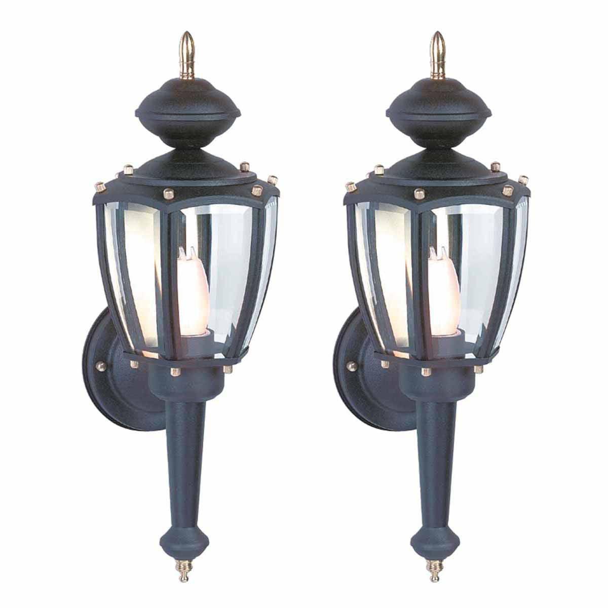 2 Outdoor Lighting Black Aluminum 5 Panel Outdoor Lamp | Renovator's Supply by The Renovator's Supply