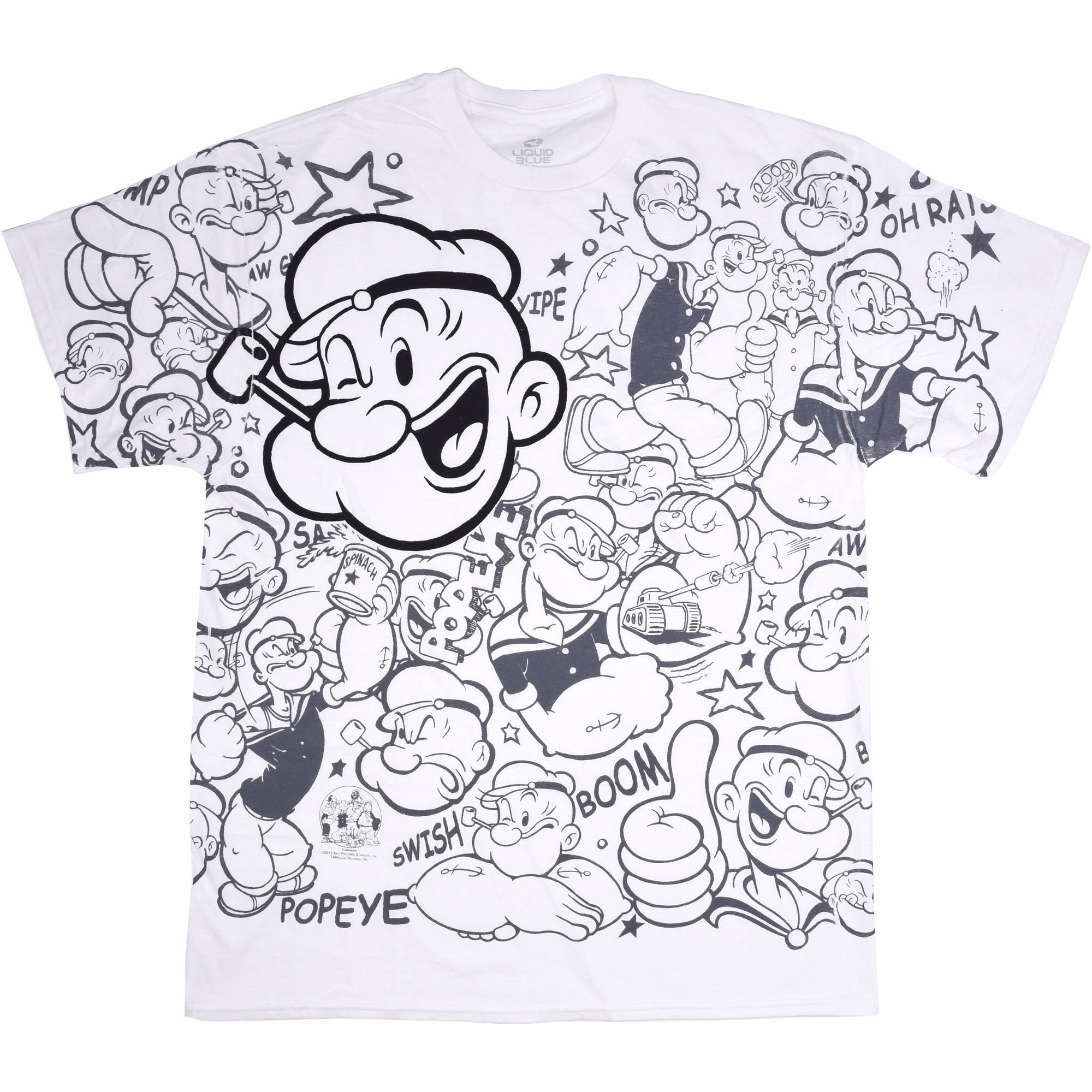 Popeye All Over Print Big Men's Graphic Tee