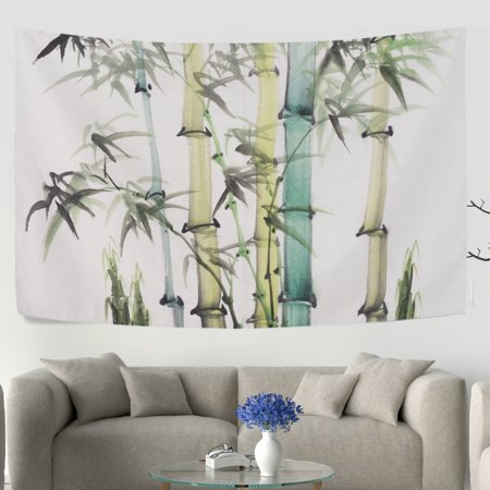 Popcreation Chinese Painting Bamboo Wall Tapestry Dorm Throw Bedroom Living Room Decorative Hanging 40x60 Inches