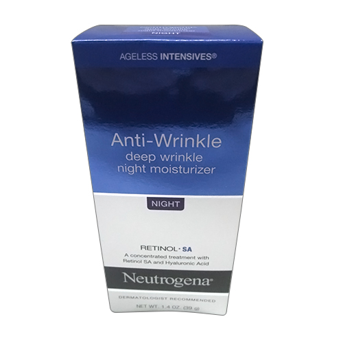 Neutrogena Ageless Intensives Deep Wrinkle Skin Night Moisture, 1.4 Oz, 2 Pack