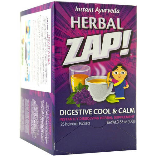 Herbal Zap! Instant Ayurveda, Digestive Cool & Calm, Dissolving Packets, 25 CT