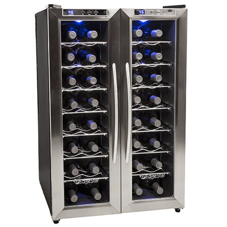 EdgeStar 32 Bottle Dual Zone Wine Cooler w/ French