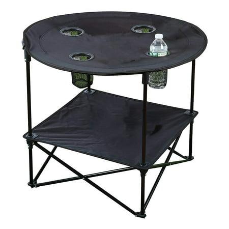 Folding Picnic Table Walmart.Travel Folding Picnic Table Black