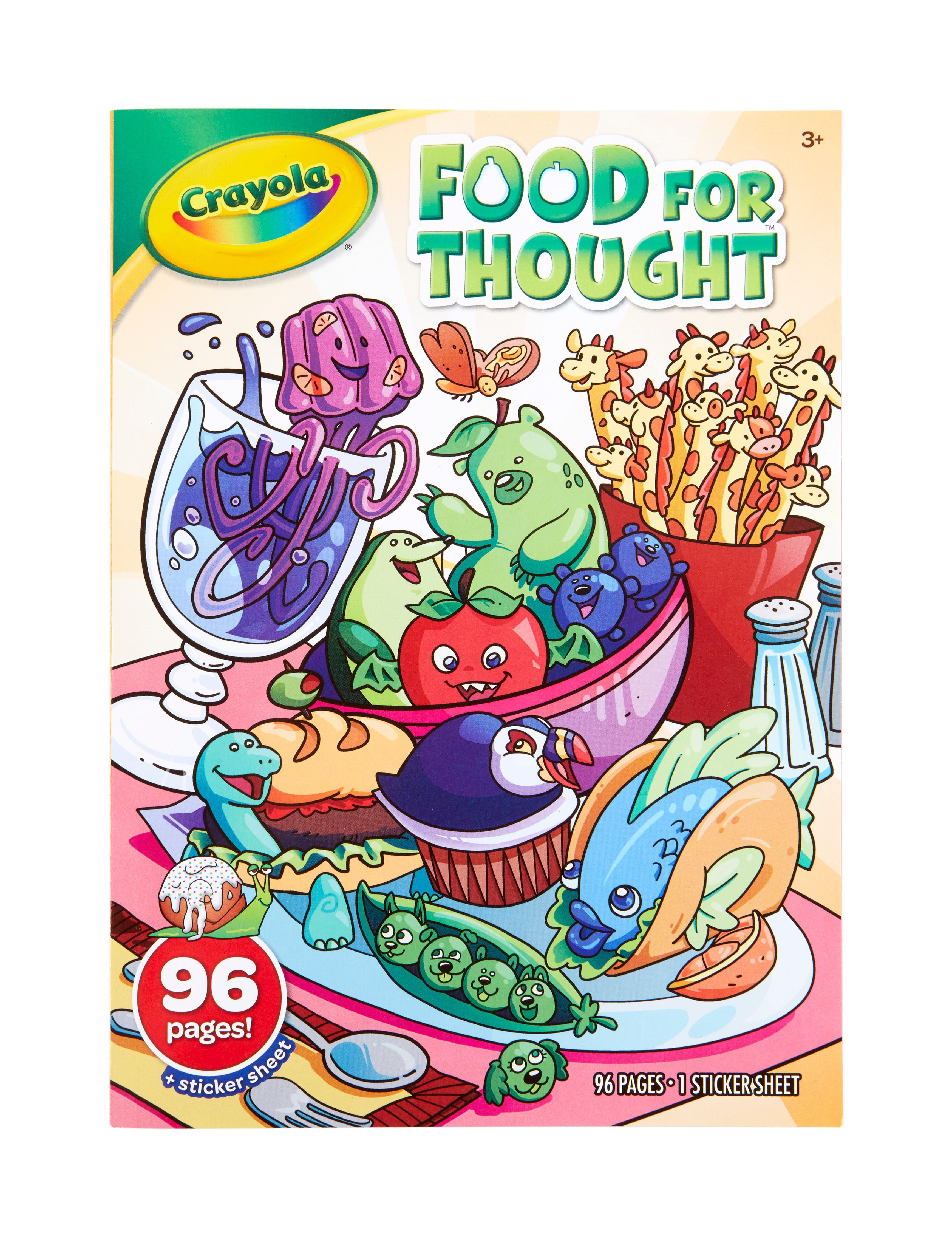 Crayola Sticker /& Colouring Book with Reusable Stickers /& Crayola Crayons
