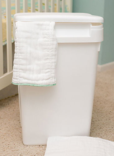 Sturdy Plastic Easy to Clean Flip Top Cloth Diaper Pail or Trash Can by Natural Baby
