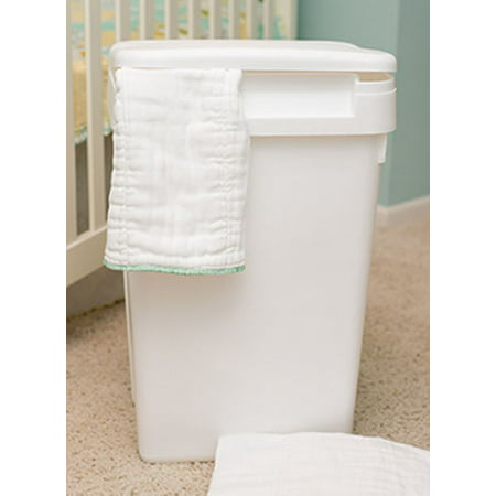Sturdy Plastic Easy to Clean Flip Top Cloth Diaper Pail or Trash (Best Cloth Diaper Pail)