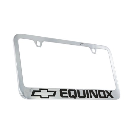 Chevrolet Equinox Chrome Plated Metal License Plate Frame Holder Chevrolet License Plate Frame
