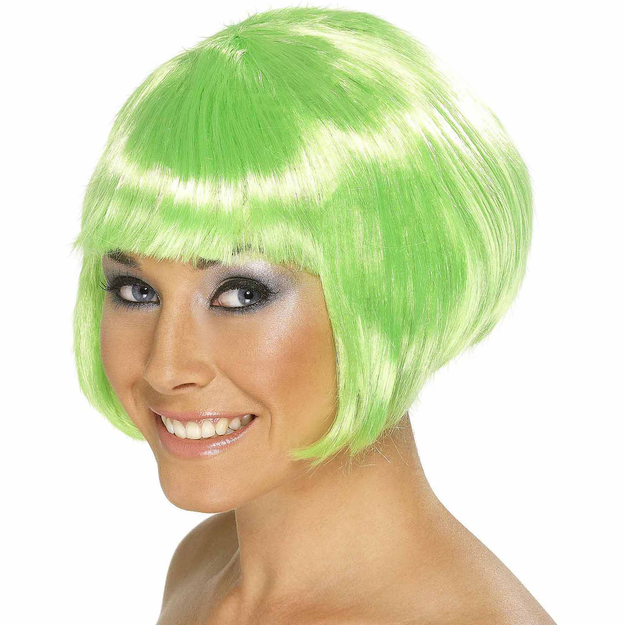 Short Bob Green Wig Adult Halloween Accessory