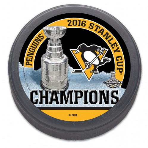 Pittsburgh Penguins 2016 Stanley Cup Champions Trophy Collectors Hockey Puck