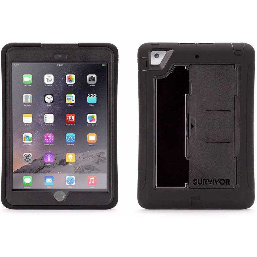 Griffin Survivor Slim Case for Apple iPad mini 1/2/3, Black/Black