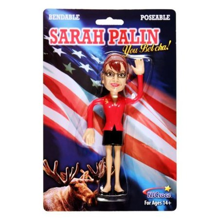 Sarah Palin Poseable Figure, Approx. 6 inches tall By NJ Croce Co (Adult Stores Nj)