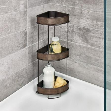 Interdesign Twillo Metal Wire Corner Standing Shower Caddy 3